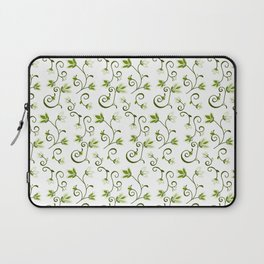Ditzy Green Floral Laptop Sleeve