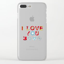 I Love You 3000 v3 Clear iPhone Case