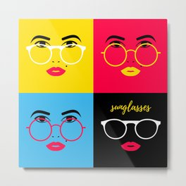 Sunglasses for the Lady Metal Print