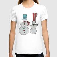 calendar T-shirts featuring Snowmen by Päivi Hintsanen