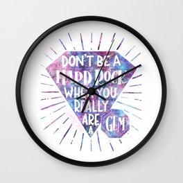Don't Be A Hard Rock Wall Clock
