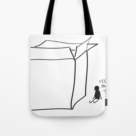 It's cold outside the box... Tote Bag
