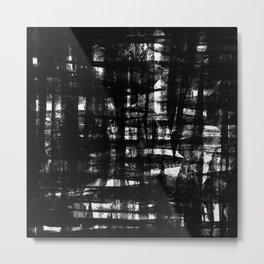 SCRATCH TEXTURE BLACK Metal Print