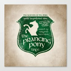 The Prancing Pony Sigil Canvas Print