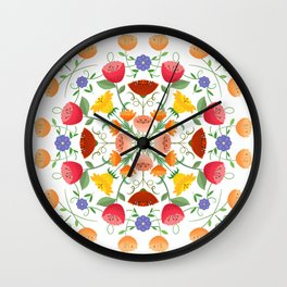 A Symphony Of Floral Delights Wall Clock