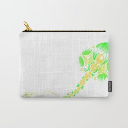 Abstract kite - Green and yellow Carry-All Pouch