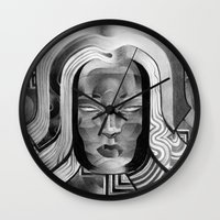 art deco Wall Clocks featuring Deco by Mouseizm