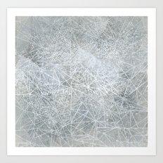 white space geometry Art Print