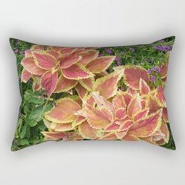 Orange Coleus Rectangular Pillow