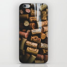 A collection of Wine Corks Photo iPhone Skin