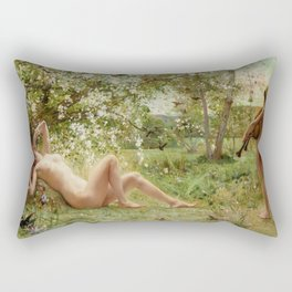 Springtime Awakening : Nude Art Rectangular Pillow