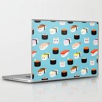 sushi Laptop & iPad Skins featuring Sushi! by Sara Showalter