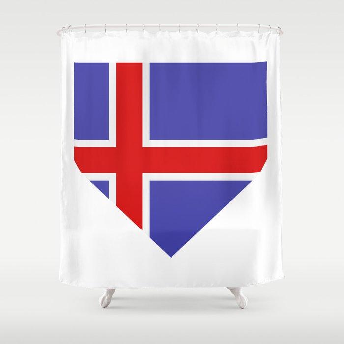 Icelandic flag Shower Curtain