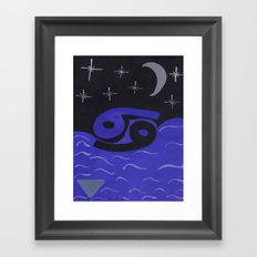 Cancerian Night Framed Art Print