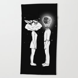 Day Dreamer Meets Night Thinker Beach Towel