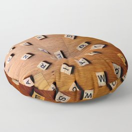 Scrabble letters Floor Pillow