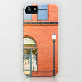 Street photography brick building afternoon II iPhone Case
