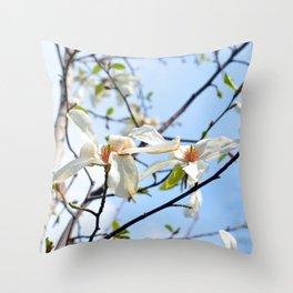Spring Tree Flowers Throw Pillow