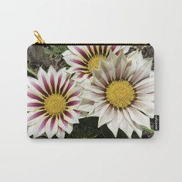 Zany Gazania - red and white stripes Carry-All Pouch