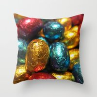 easter Throw Pillows featuring Easter by habish