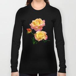 Daybreak roses on black Long Sleeve T-shirt