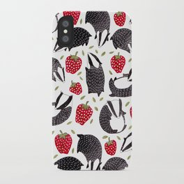 Badgers and Strawberries iPhone Case