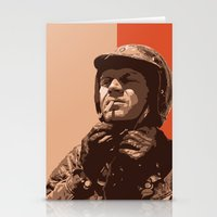 steve mcqueen Stationery Cards featuring S McQueen by Rich Lee