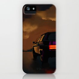 Oldsmobile with burning depot iPhone Case