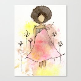 Splotch Girl - Freedom Cut Me Loose Canvas Print