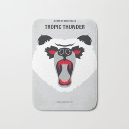 No344 My TROPIC THUNDER minimal movie poster Bath Mat