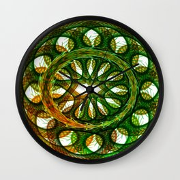 Serpent scales Wall Clock