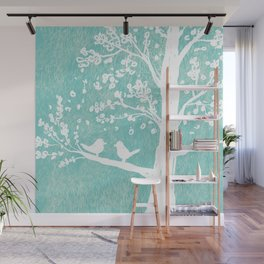 Birds in a Tree Wall Mural