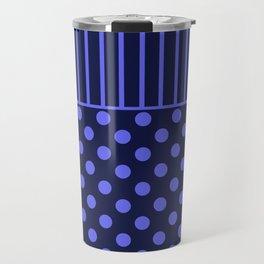 blue, combo pattern Travel Mug