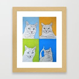 All the Faces of Moo-Moo Framed Art Print