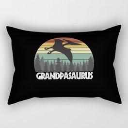 GRANDPASAURUS GRANDPA SAURUS GRANDPA DINOSAUR Rectangular Pillow