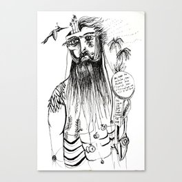 Wise men have beards Canvas Print