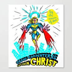 we need a hero to fight the evil Santa Claus Canvas Print