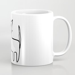 A mangy, miffed and slightly damaged cat Coffee Mug