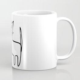 A mangy, miffed and slightly damaged cat Coffee Mug