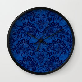 Stegosaurus Lace - Blue Wall Clock
