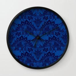Stegosaurus Lace - Blue Wall Clock