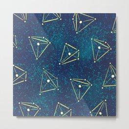 Tetrahedral Molecular Geometry Constellation Art Metal Print