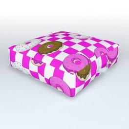 A King Cake Donut Outdoor Floor Cushion