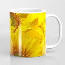 Yellow Mellow Sunflower Bouquet #decor #society6 #buyart Coffee Mug