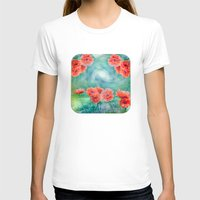 poppies T-shirts featuring Poppies by LudaNayvelt