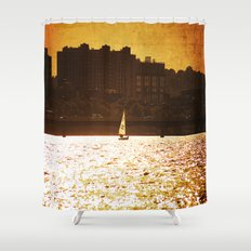 City Backdrop Shower Curtain