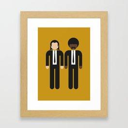 Vincent & Jules 01 Framed Art Print