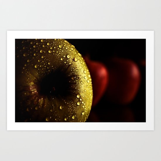 apple gold Art Print