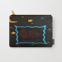 She is like a cat in the dark. Carry-All Pouch