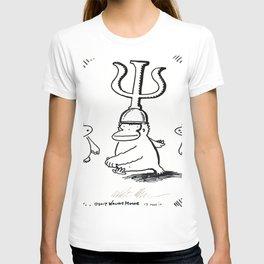 Ape Wears Cap with Greek Letter PSI T-shirt